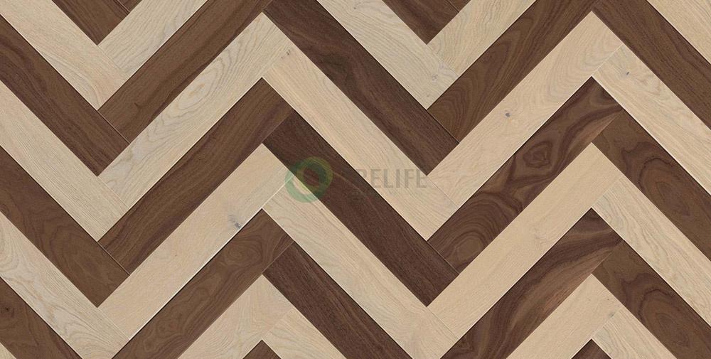 Sàn gỗ kỹ thuật xương cáHerringbone Twine - NOCE IMPERIAL và OAK TWINER